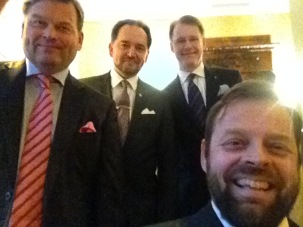 Kvartettikeikat vievät mielenkiintoisiin paikkoihin ja kabinetteihin.
