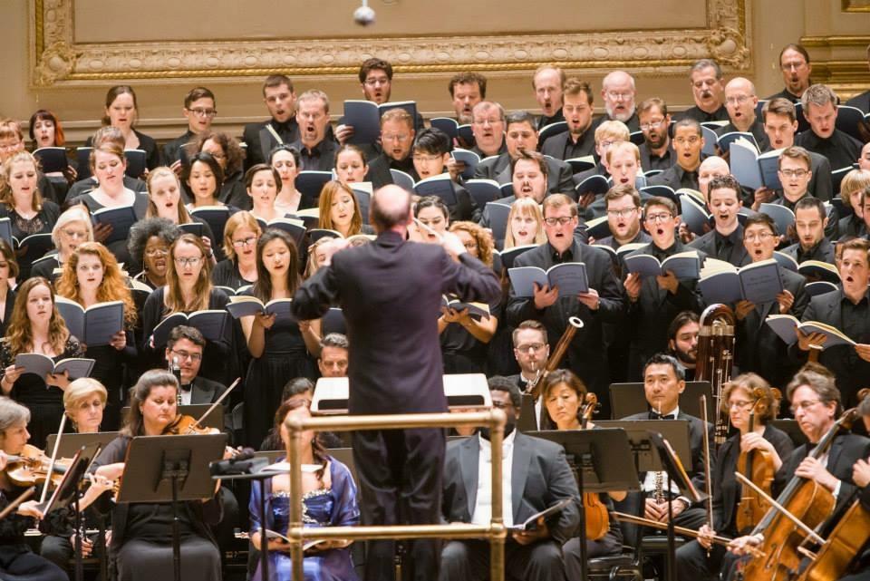 Tapiolan kamarikuoro & koottu kansainvälinen kuoro Carnegie Hallissa New Yorkissa 2015